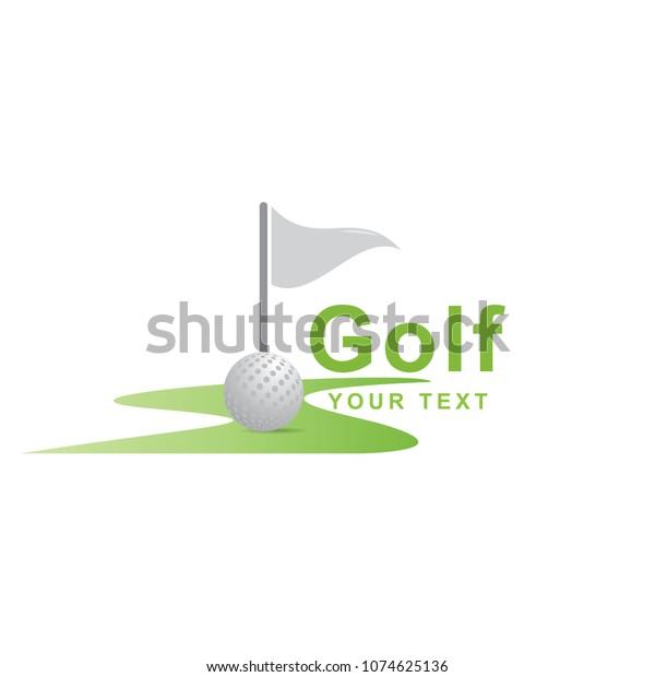 Golf Logo Design Stock Vector Royalty Free 1074625136