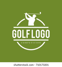 Golf logo design template