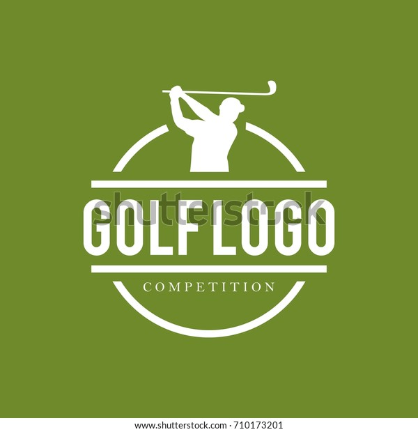 Golf Logo Design Template Stock Vector (Royalty Free