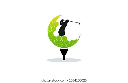 Golf Logo designs concept vector, Silhouette of Golf logo designs vector illustration