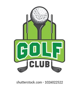 golf logo, emblems and insignia with text space for your slogan / tagline. vector illustration