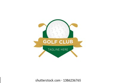 golf logo, icon and badge vector illustration design template