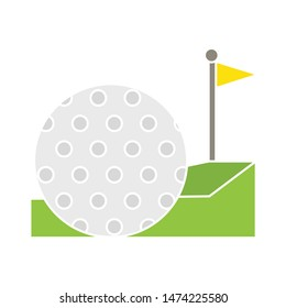 Golf Logo icon. flat illustration of Golf Logo vector icon. Golf Logo sign symbol