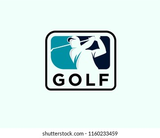 golf logo, golf shoot logo. negative space golf logo