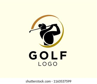 golf logo swing shoot