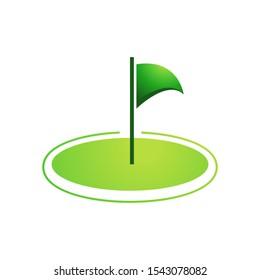 Golf logo template vector icon design