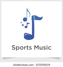 golf and music logo design, sport music logo design inspiration