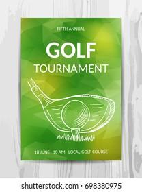 Golf party invitation card.