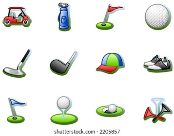 golf pictograms
