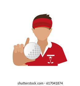 golf player avatar icon