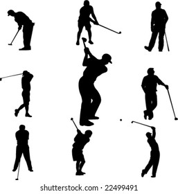 golf players - vector
