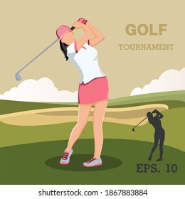 female golfer high res stock images | shutterstock  shutterstock