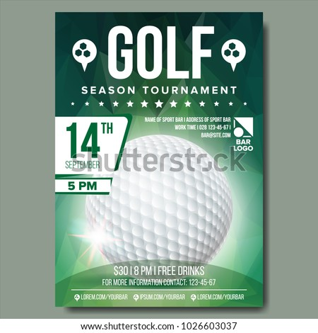 golf poster vector sport event announcement のベクター画像素材