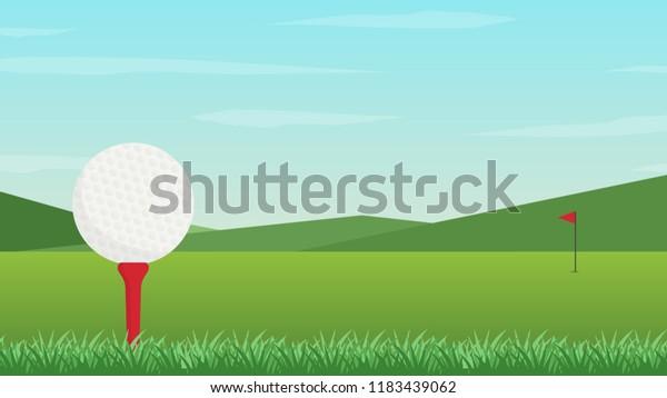 Golf Poster Vector Wallpaper Free Space Stock Vector