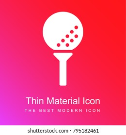 Golf red and pink gradient material white icon minimal design