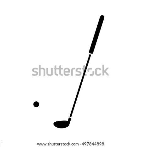 Golf Silhouette Icon Hand Drawn Vector Stock Vektorgrafik