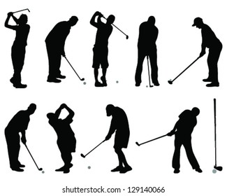 Golfer Silhouette Images Stock Photos Vectors Shutterstock