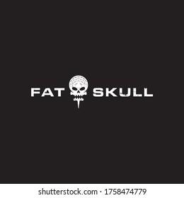 Golf skull Head Logo Vector