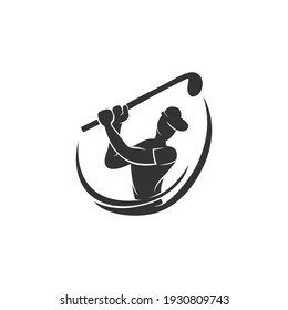 Golf Sport Championship Silhouette Abstract Design Template