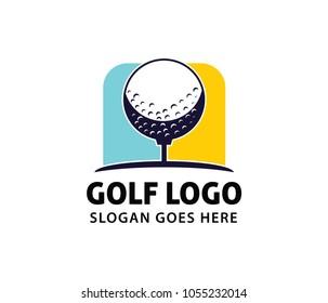 golf sport course field community  vector logo design