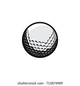 Golf sport icon logo and mascot vector