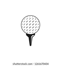 Golf sport vector graphic design template illustration