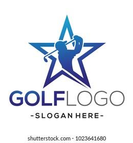 Golf Star Sports Logo Vector