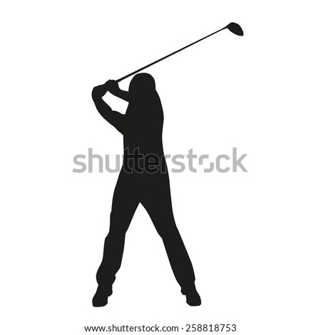 Golf Swing Vector Golfer Silhouette Stock Vector Royalty Free