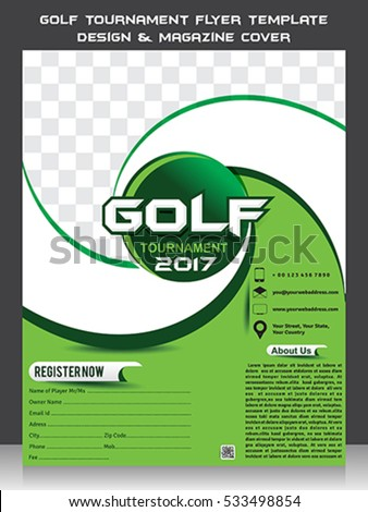 golf tournament flyer template design magazine stock vector royalty