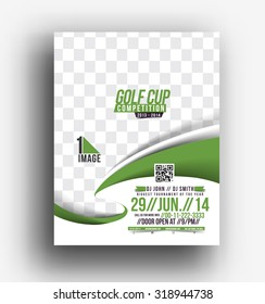 Golf Tournament Front Flyer & Poster Template