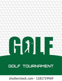 Golf tournament invitation flyer poster template graphic design.