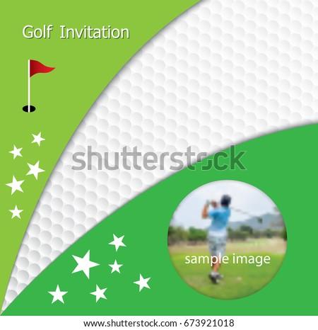 golf tournament invitation flyer template graphic stock vector