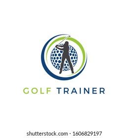 Golf trainer logo inspirations, golf logo idea