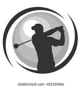Golf Vector Graphic Design For Icon Symbol Illustration Sign and Logo Ideas