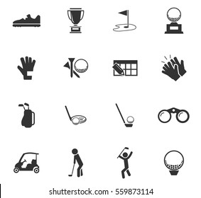 golf vector icons for user interface design