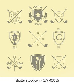 Golf. Vector Set Golfing Champion Labels and Icons_6