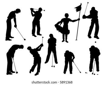 Golf - Vector Silhouette