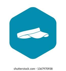 Golf visor icon. Simple illustration of golf visor vector icon for web
