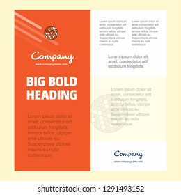 Golfball  Business Company Poster Template. with place for text and images. vector background