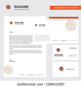 Golfball  Business Letterhead, Envelope and visiting Card Design vector template