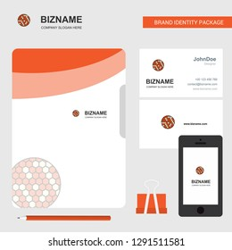 Golfball  Business Logo, File Cover Visiting Card and Mobile App Design. Vector Illustration