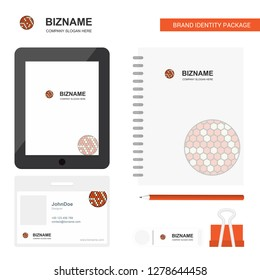 Golfball  Business Logo, Tab App, Diary PVC Employee Card and USB Brand Stationary Package Design Vector Template