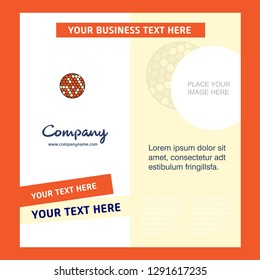 Golfball  Company Brochure Template. Vector Busienss Template