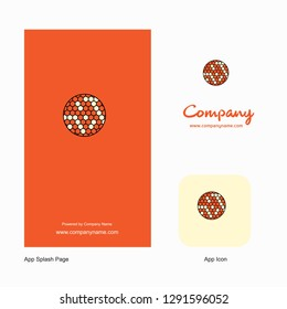Golfball  Company Logo App Icon and Splash Page Design. Creative Business App Design Elements