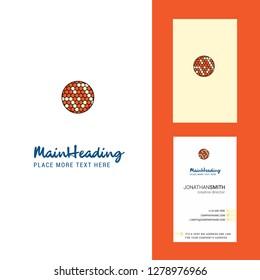 Golfball  Creative Logo and business card. vertical Design Vector