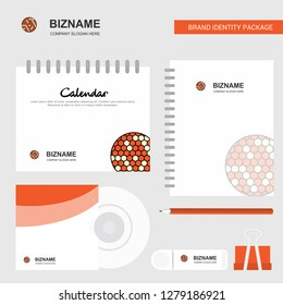 Golfball  Logo, Calendar Template, CD Cover, Diary and USB Brand Stationary Package Design Vector Template