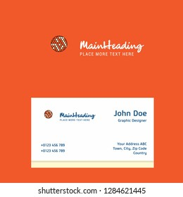 Golfball  logo Design with business card template. Elegant corporate identity. - Vector
