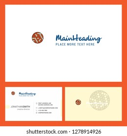 Golfball  Logo design with Tagline & Front and Back Busienss Card Template. Vector Creative Design