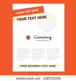 Golfball  Title Page Design for Company profile ,annual report, presentations, leaflet, Brochure Vector Background