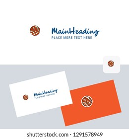 Golfball  vector logotype with business card template. Elegant corporate identity. - Vector